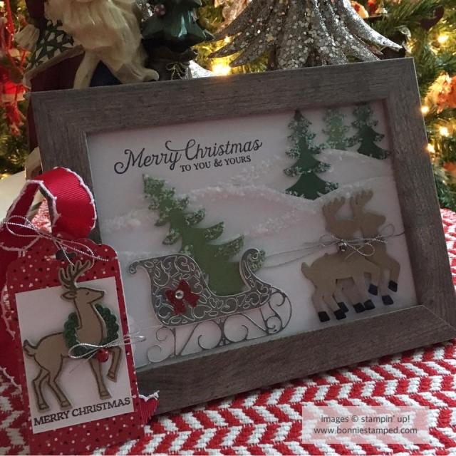 #santassleigh #framedart #handmade #gift #merrychristmas