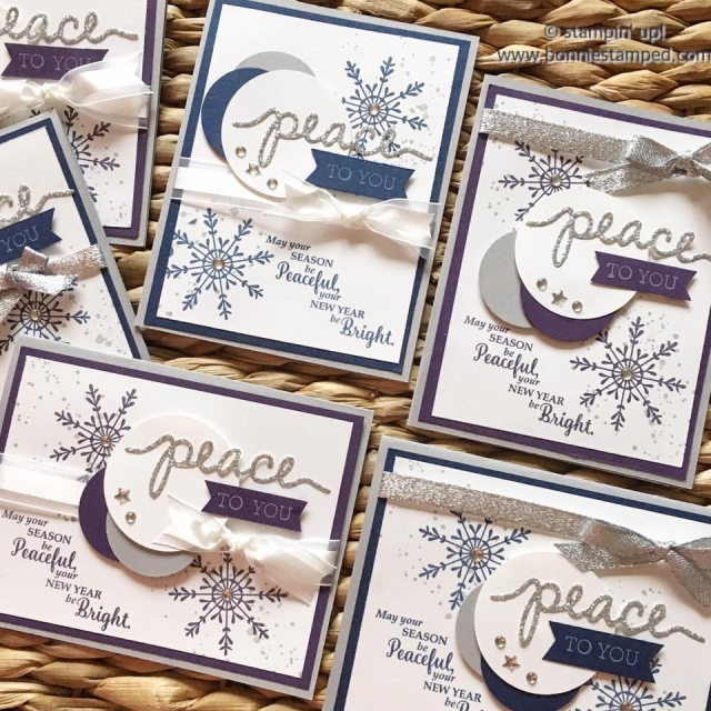 #peacetoyou #holidaycard #tinoftags #gorgeousgrunge #staroflight #cards #ribbon #punches
