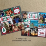 Monthly 12×12 Scrap Book Layout featuring Happy Celebrations Stamp Set