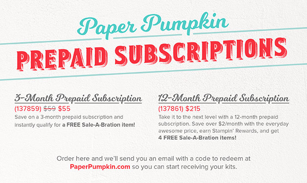 #paperpumpkin #prepaidsubscription #SAB2017 #skiptothefun #monthly subscription #kits