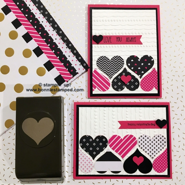 #popofpink #bonniestamped #valentinesday #stampinup #sweetheartpunch #love #hearts