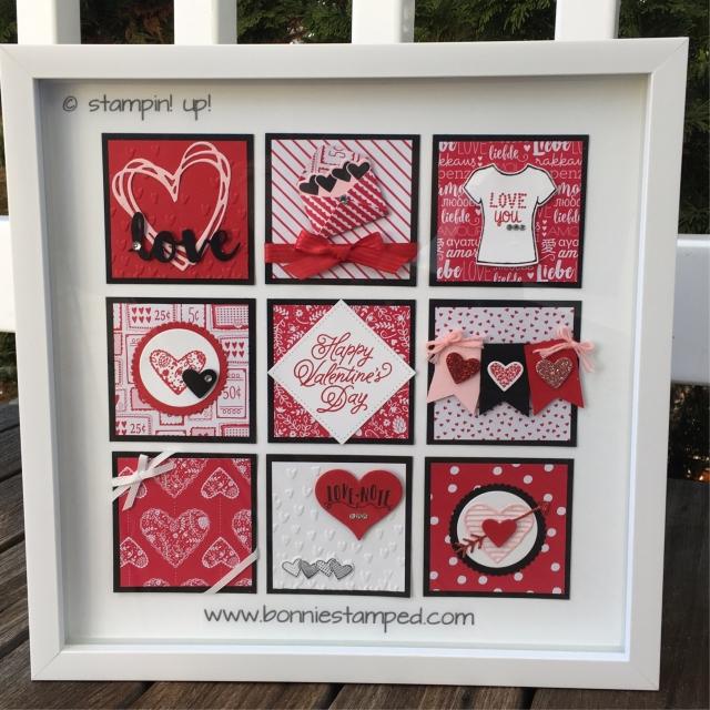 #sendinglove #sealedwithlove #lovenotesframelits #happyvalentinesday #bonniestamped #stampinup #framedart #papercrafts