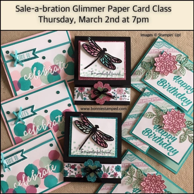 #cardclass #glimmerpaper #saleabration2017 #bonniestamped #occasions2017 #happybirthday #celebrate #friends