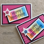 Watercolor Pencils to create a background for Happy Birthday!