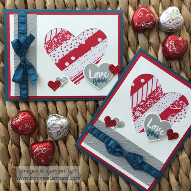 #sendinglove #sweetandsassyframelits #valentinesday #love #paperpumpkin #adorningarrows #ribbon #happyhearts #bonniestamped #stampinup