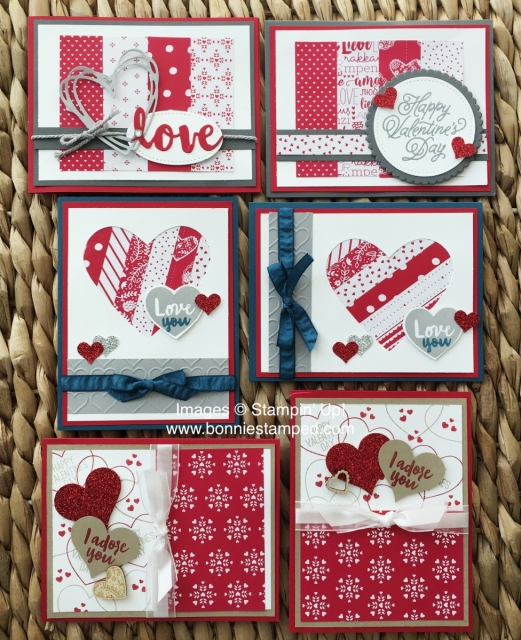 #valentinesday #cards #love #hearts #bonniestamped #stampinup #sendinglovedsp