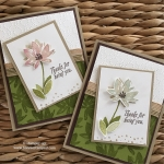 NEW Avant Garden Sale-a-bration Stamp Set using Sponge Daubers
