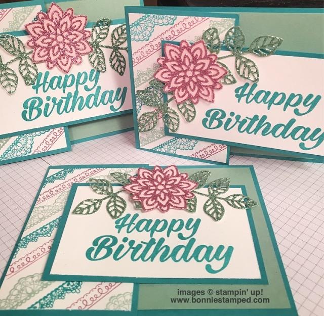 #delicatedetails #glimmerpaper #flourishthinlits #birthdaybright