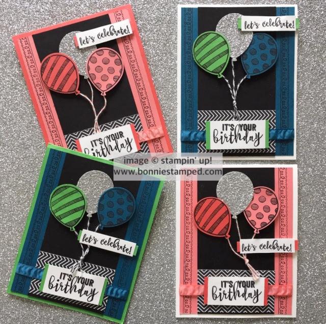 #balloonadventures #balloonbouquet #occasions2017 #bonniestamped #delicatedetails #saleabration2017 #glimmerpaper #birthdaycards #stampinup