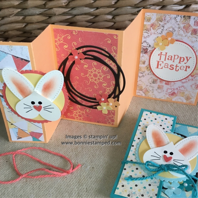 #eastercard #bunny #punchart #bonniestamped #stampinup #occasions2017 #handmadecards
