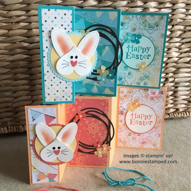 #bunnycard #punchart #stitchedshapesframelits #bonniestamped #stampinup #cupcakesandcarousels #circleframelits #happyeastercards