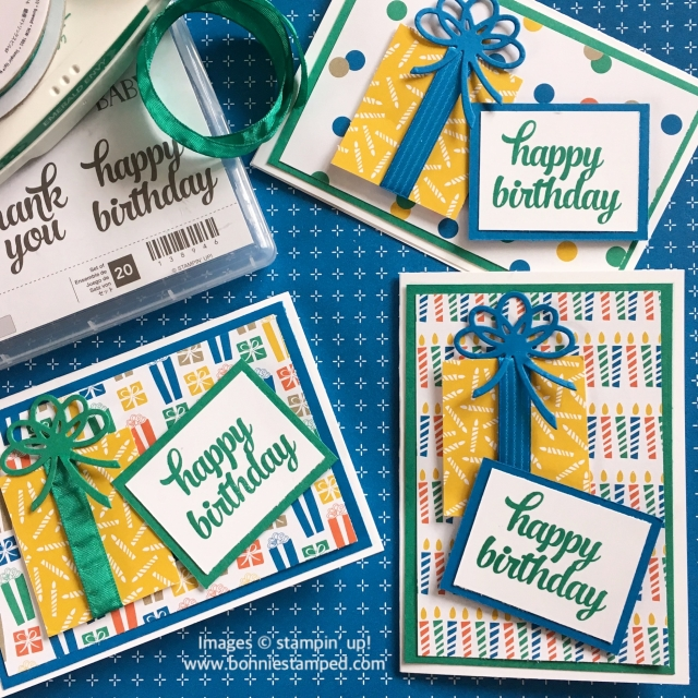 #partyanimal #notecards #birthdaycards #bonniestamped #stampinup #occasions2017