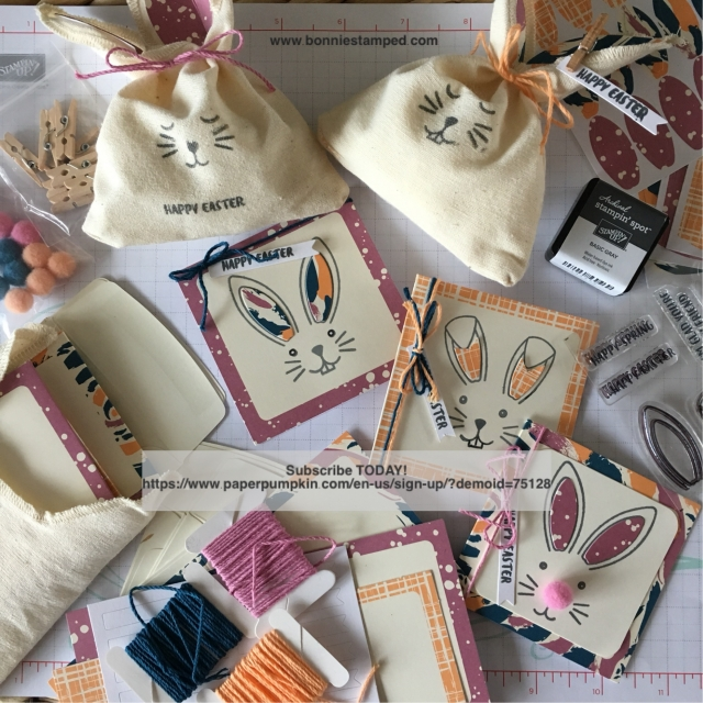 #paperpumpkin #bonniestamped #stampinup #bunnybuddies #monthlykit #cards #treats