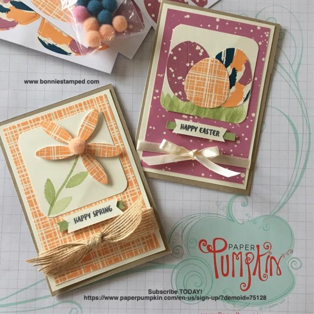 #paperpumpkin #bonniestamped #stampinup #bunnybuddies