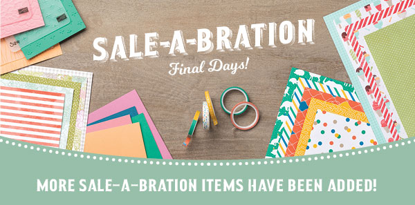 WOW!!!! 7 MORE ITEMS added to Sale-a-bration 2017!