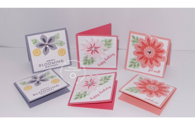 #flowerpatch #bonniestamped #3x3cards