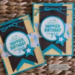 Masculine Birthday Card with Balloon Adventures Stamp Set