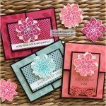 A little stripe detail to the flower in the Crazy About You Stamp Set!