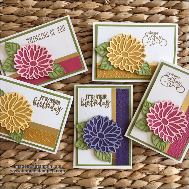 #stylishstems #thinlits #windowshopping #balloonadventure #goldfoilsheets #embossing #elegantdots #bonniestamped #stampinup #occasions2017 #retiringproduct