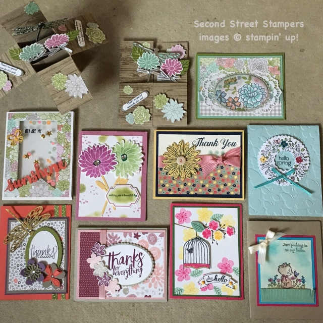#cardswaps #floralcards #bonniestamped #stampinup