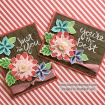 Flower Patch Stamp Set with Flower Fair Framelits for my own collection of Spring flowers