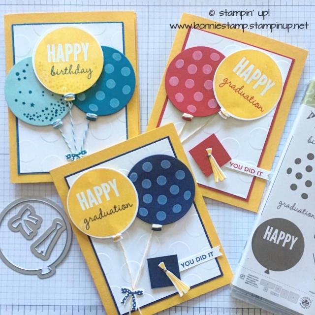 #celebratetoday #retiringproduct #stampinup #bonniestamped #balloonframelits