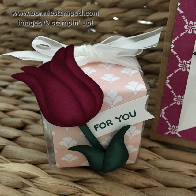#owlbuilderpunch #tulip #giftbox #retiringproduct #stampinup #bonniestamped