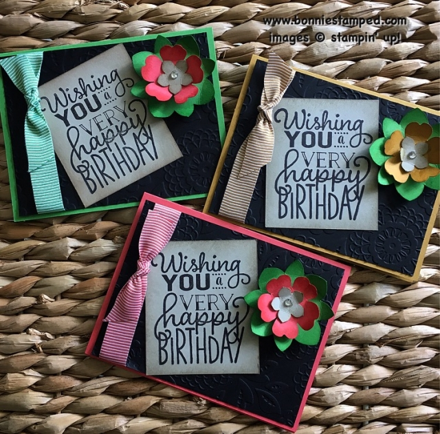 #bigonbirthday #lovelylace #flowermedallion #pansy #petitepetal #incolors2015 #retringproducts #bonniestamped #stampinup