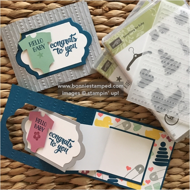 #somethingforbaby #retiringproducts #babysfirst #tinofcards #bonniestamped #funfoldedcards #tinofcards