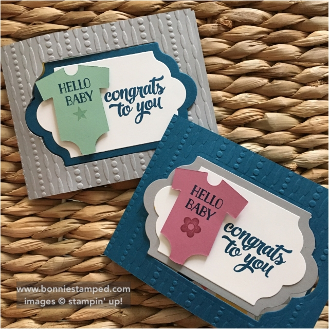 #somethingforbaby #retiringproducts #babysfirst #bonniestamped #funfoldedcards #tinofcards