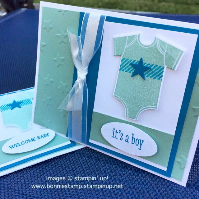 #somethingforbaby #retiringproducts #babysfirst #luckystar #ribbon #bonniestamped #funfoldedcards