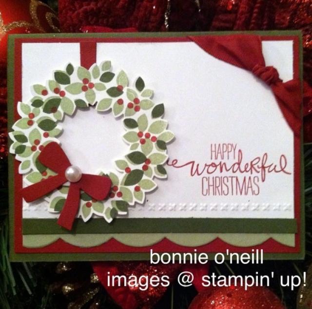 #wondrouswreath #wonderfulwreath #framelits #holidaycards #bonniestamped