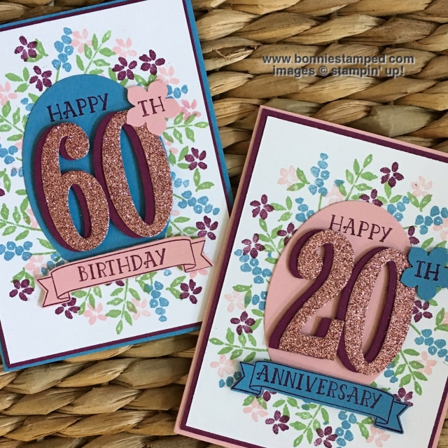 #numberofyears #stamps #largenumberframelits #personalizedcards #bonniestamped #glimmerpaper #petitepetalspunch #stampinup