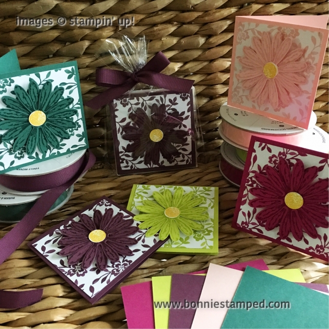 #incolors2017 #3x3cards #daisydelight #daisypunch