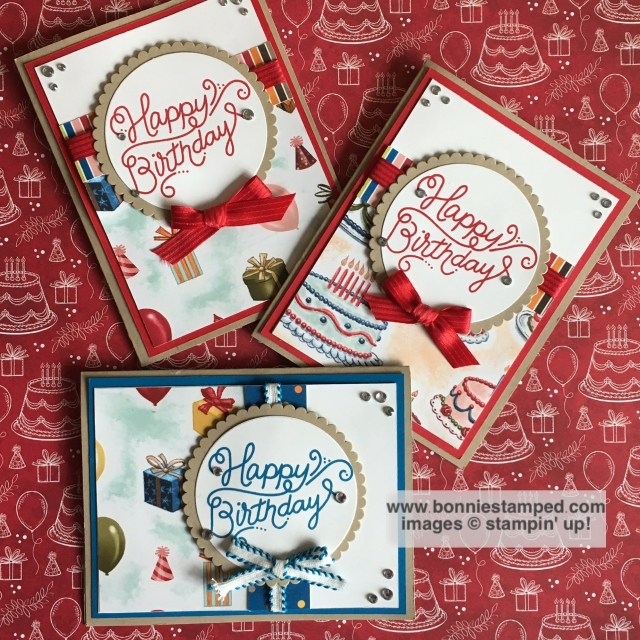 #birthdaydelivery #birthdaymemories #circleframrlits #bonniestamped #sneakpeek #stampinup