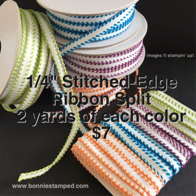 #ribbonsplit #productsplit #newproduct #bonniestamped #stampinup