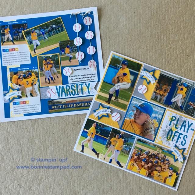#baseball #layeredletters #gorgeousgrunge #bonniestamped #scrapbooking