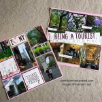 Being a Tourist Scrapbook Page