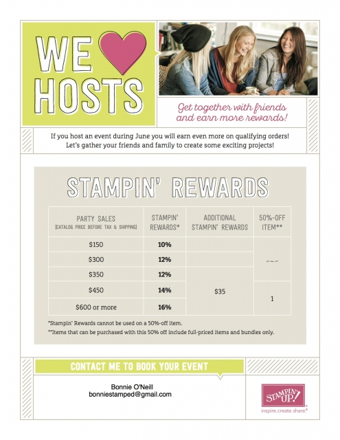 #hostpromotion #bonniestamped #extrarewards