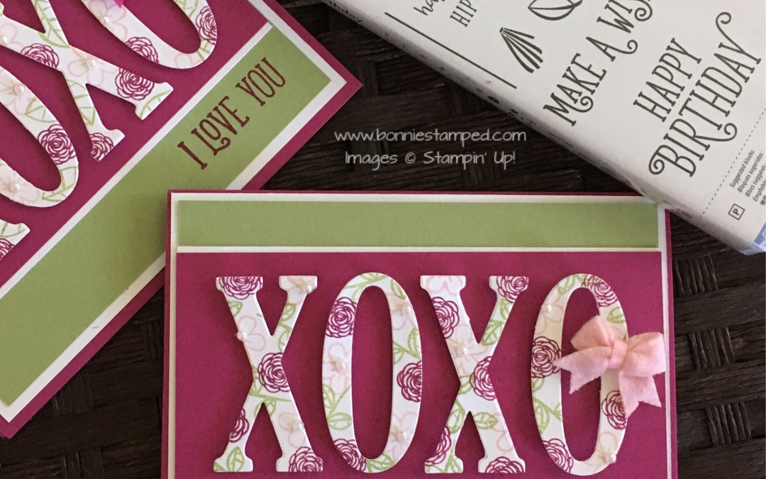 Large Letters Framelits make it simple to create!