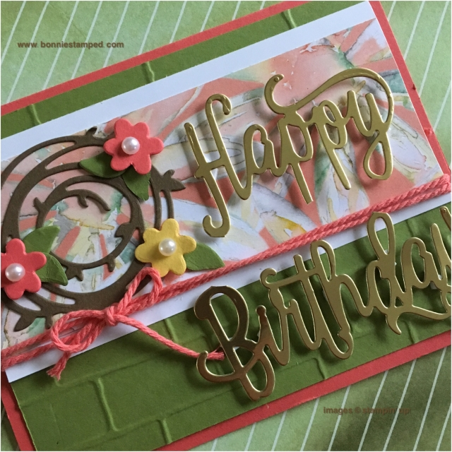#happybirthdaythinlit #bonniestamped #stampinup