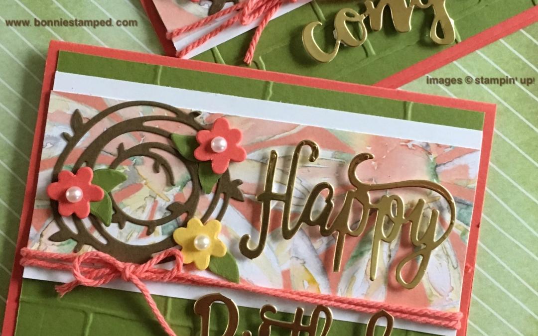 NEW Happy Birthday Thinlits!