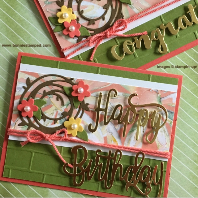#happybirthdaythinlits #swirlyscribbles #delightfuldaisydsp #brinkembossingfolder #thickcord #bonniestamped #stampinup
