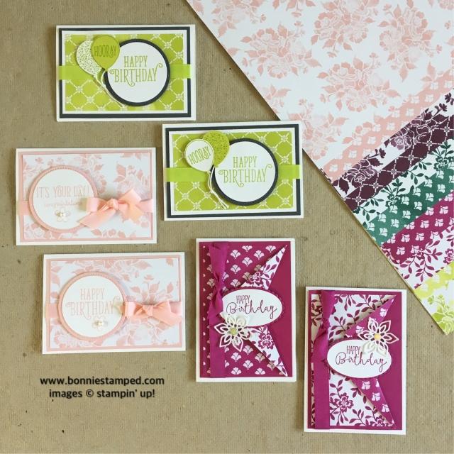 #notecards #incolors #freshfloralsdsp #bonniestamped #stampinup