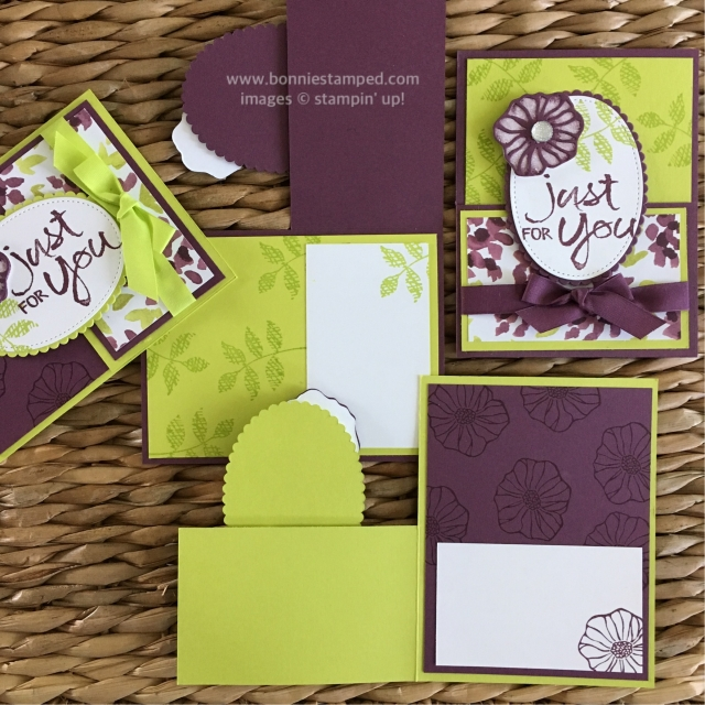 #fancyfoldedcards #ohsoeclectic #incolors #bonniestamped #stampinup