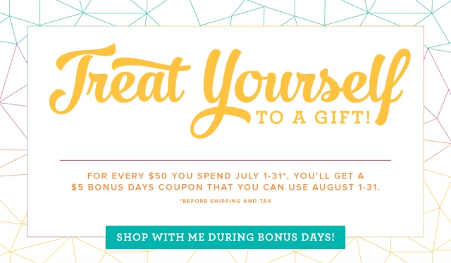 #bonusdays #treatyourself #bonniestamped #stampinup