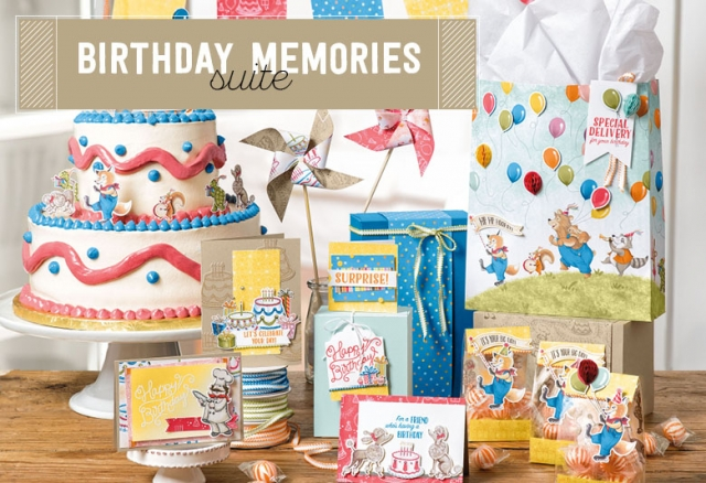 #birthdaymemories #productsuite #stampinup #bonniestamped