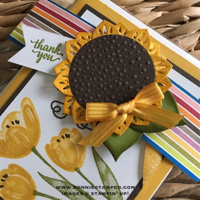 #bellyband #sunflower #easternpalace #bonniestamped #stampinup