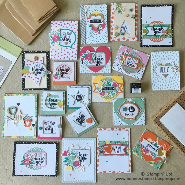 #ohhappyday #cardkit #bonniestamped #stampinup