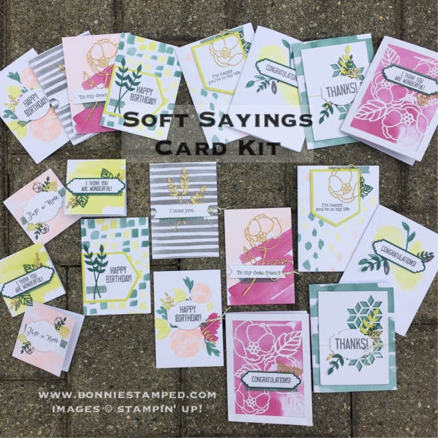 #softsayings #cardkit #allinclusive #bonniestamped #stampinup